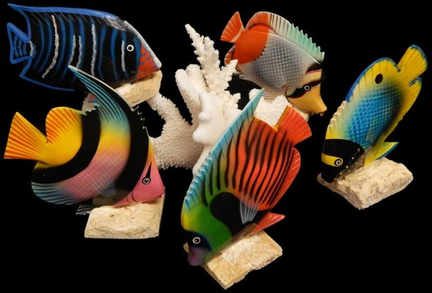 Hand Painted Angel Fish Assorted Kinds - Click For Larger View