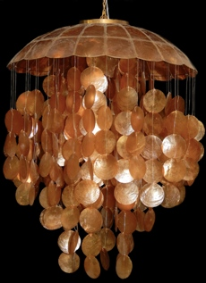 Bronze Capiz Chandelier - Click For Larger View