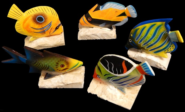 Hand Painted Angel Fish (Asst.) - Click For Larger View