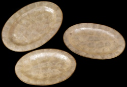 3 Pc Capiz Gold Oval - Click For Larger View