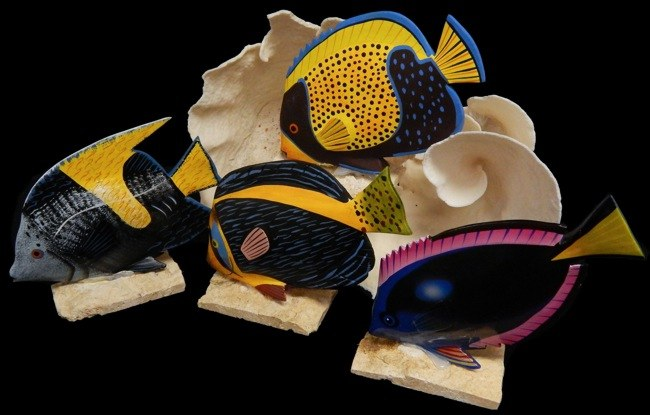 Assorted Hand Painted Angel Fish - Click For Larger View