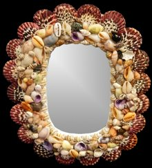 Pectin Oval Mirror - Click For Larger View