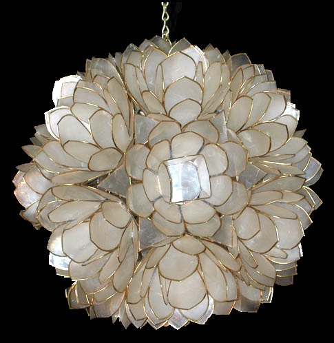 Shell Horizons IncProduct DetailsCapiz Lotus Flower Chandelier