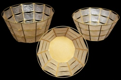 Capiz Oval Baskets - Click For Larger View