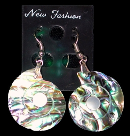 Paua Nautilus Earrings - Click For Larger View