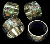 Paua Napkin Rings - Click For Larger View
