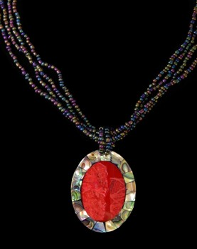 Red Coral Pendant #17 - Click For Larger View