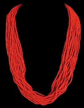 Genuine Red Baby Coral beads - Click For Larger View