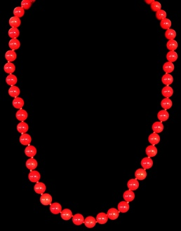 Red Coral Bead 6MM - Click For Larger View