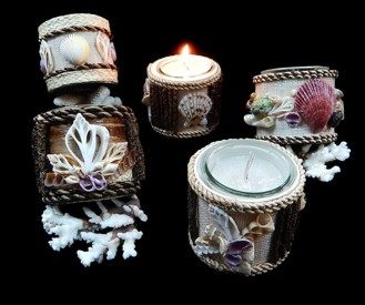 Assorted Shell Candles - Click For Larger View
